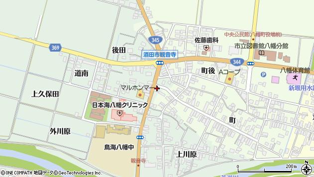 山形県酒田市小泉前田112周辺の地図