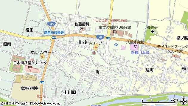 山形県酒田市観音寺町後60周辺の地図