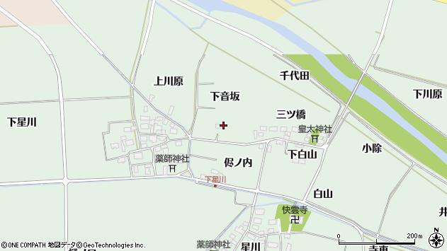 山形県酒田市大豊田下音坂12周辺の地図