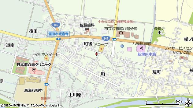 山形県酒田市観音寺町後84周辺の地図