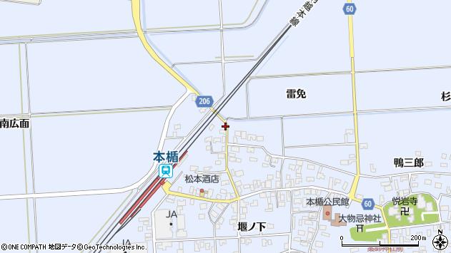 山形県酒田市本楯南広面70周辺の地図