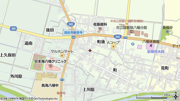 山形県酒田市観音寺町後47周辺の地図