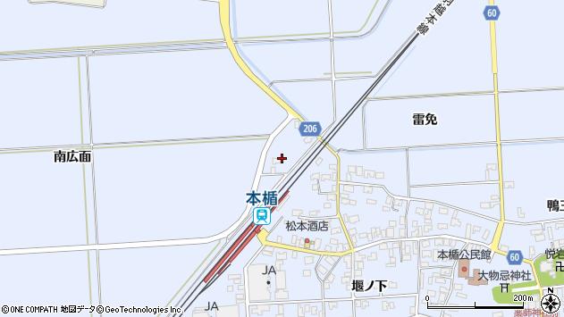 山形県酒田市本楯南広面74周辺の地図