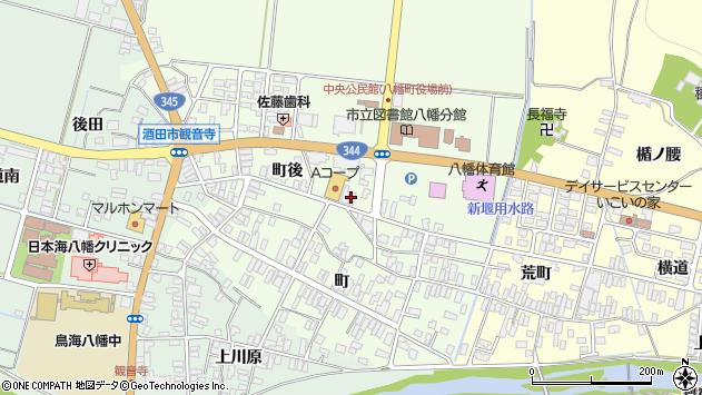 山形県酒田市観音寺町後56周辺の地図