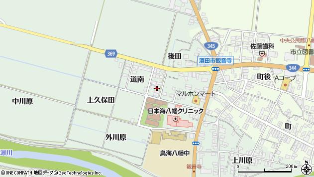 山形県酒田市小泉道南21周辺の地図