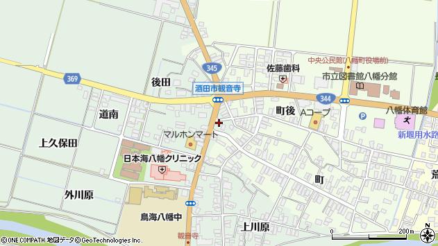 山形県酒田市小泉前田109周辺の地図
