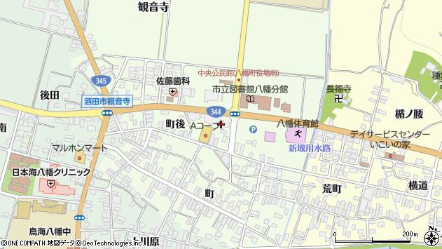 山形県酒田市観音寺町後20周辺の地図