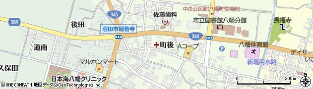 山形県酒田市観音寺周辺の地図