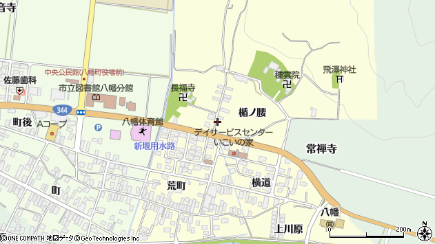 山形県酒田市麓楯ノ腰25周辺の地図