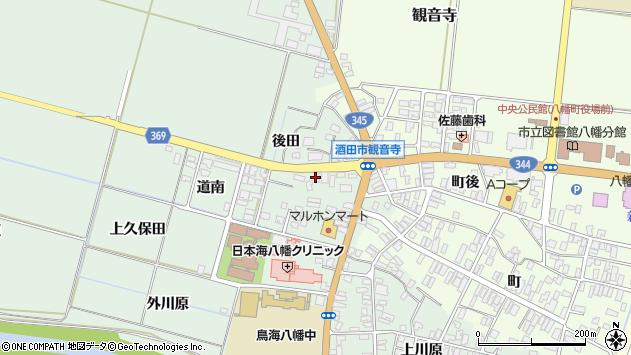 山形県酒田市小泉前田14周辺の地図