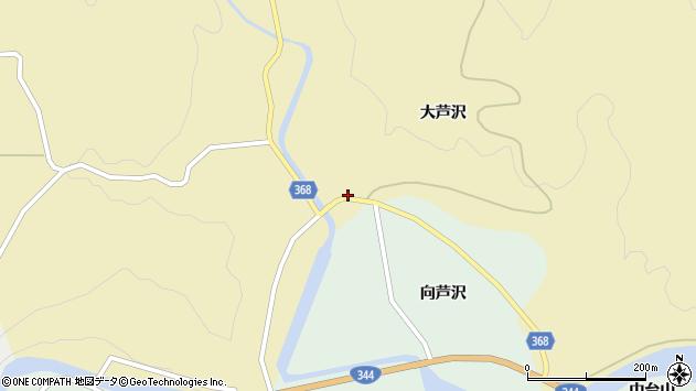 山形県酒田市北青沢大芦沢周辺の地図