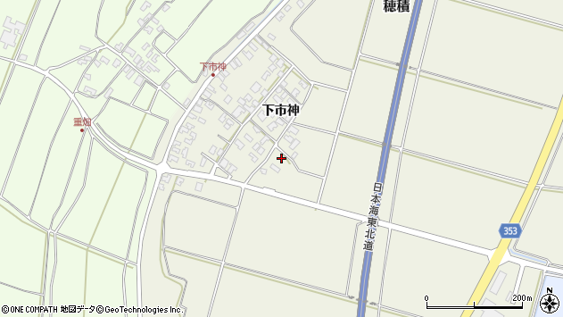 山形県酒田市穂積堂の前周辺の地図