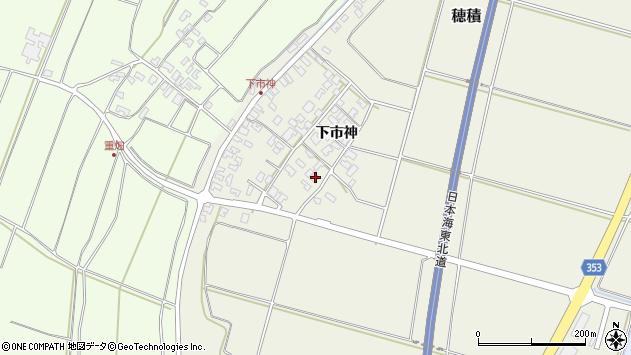 山形県酒田市穂積下市神74周辺の地図