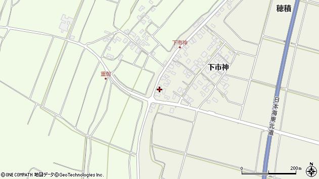 山形県酒田市穂積下市神166周辺の地図
