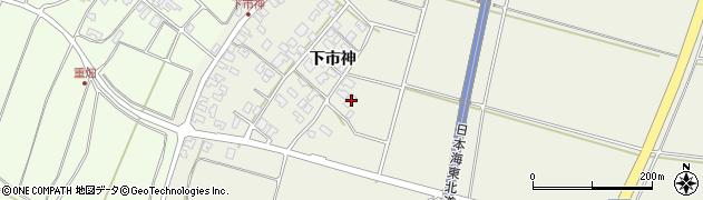山形県酒田市穂積下市神43周辺の地図