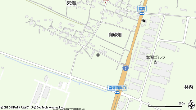 山形県酒田市宮海中砂畑75周辺の地図