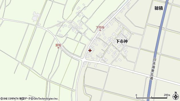 山形県酒田市穂積下市神163周辺の地図