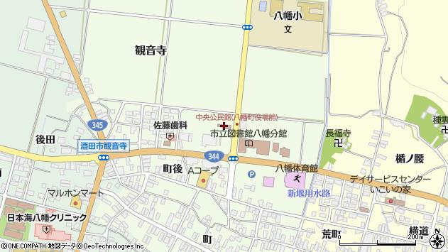 山形県酒田市観音寺前田14周辺の地図