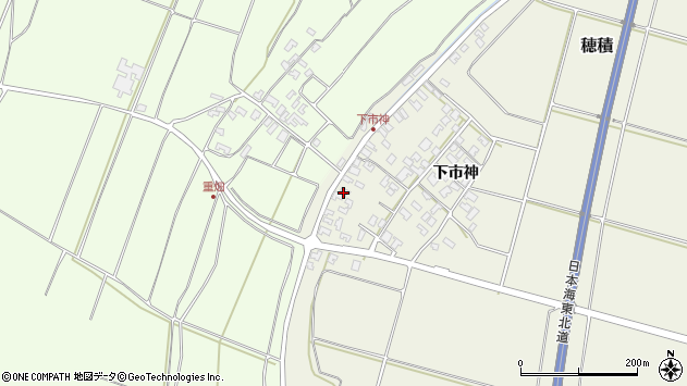 山形県酒田市穂積下市神160周辺の地図