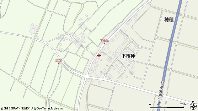山形県酒田市穂積下市神146周辺の地図