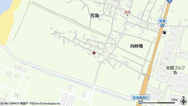 山形県酒田市宮海砂飛1周辺の地図