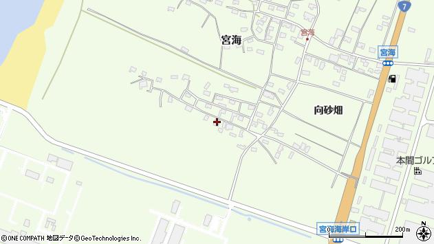 山形県酒田市宮海砂飛10周辺の地図