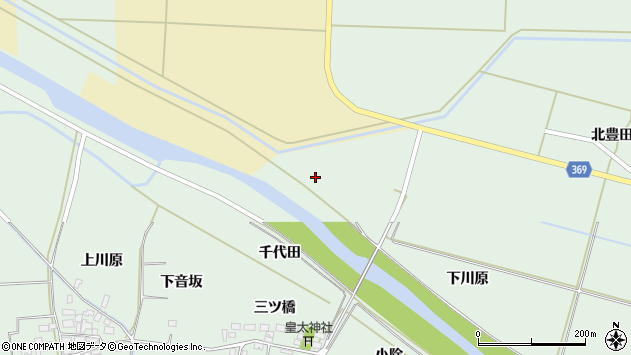 山形県酒田市大豊田向田周辺の地図