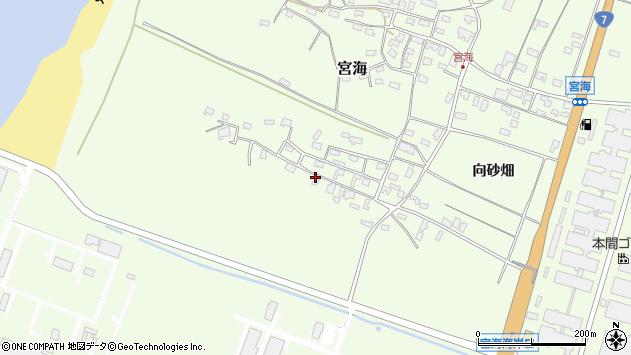 山形県酒田市宮海砂飛11周辺の地図