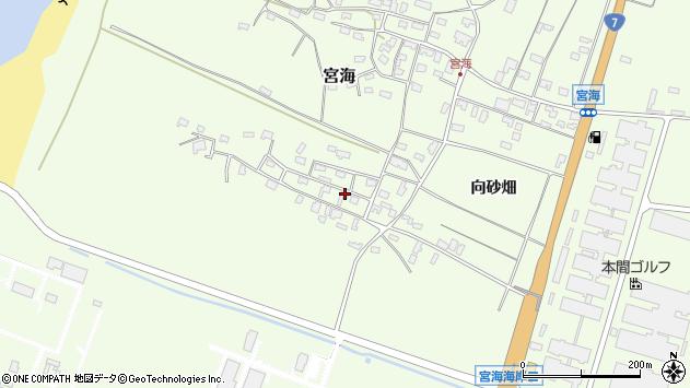 山形県酒田市宮海砂飛3周辺の地図