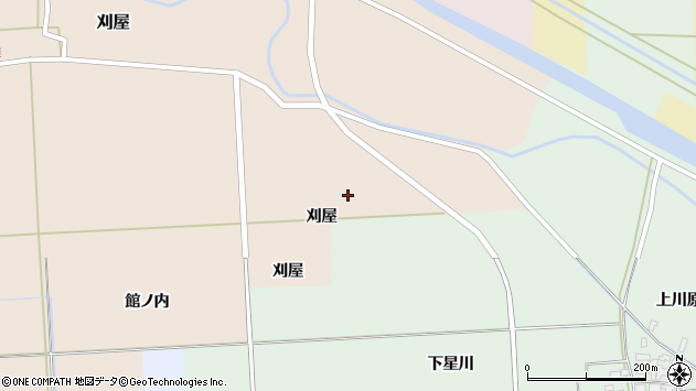 山形県酒田市刈屋刈屋周辺の地図