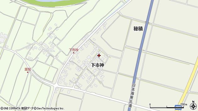 山形県酒田市穂積下市神64周辺の地図
