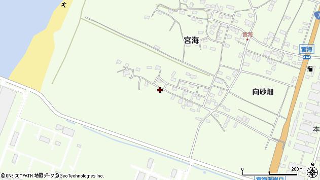 山形県酒田市宮海砂飛20周辺の地図
