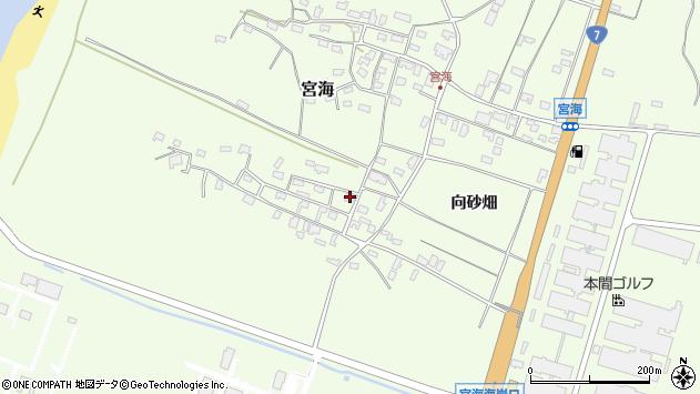山形県酒田市宮海砂飛4周辺の地図