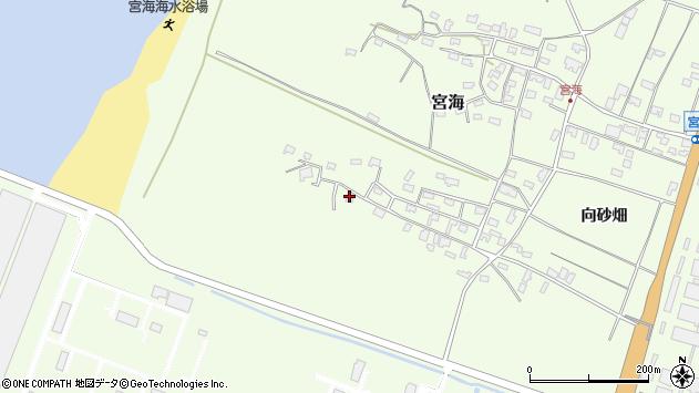 山形県酒田市宮海砂飛22周辺の地図