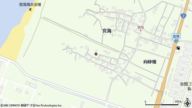 山形県酒田市宮海砂飛14周辺の地図