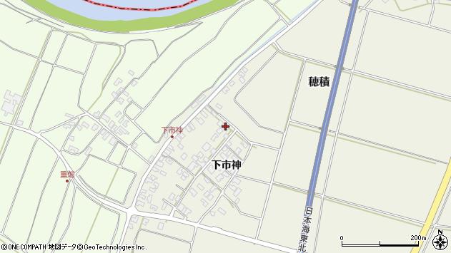 山形県酒田市穂積下市神83周辺の地図