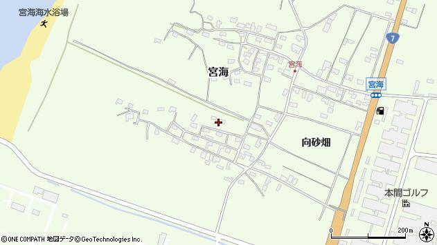 山形県酒田市宮海砂飛5周辺の地図