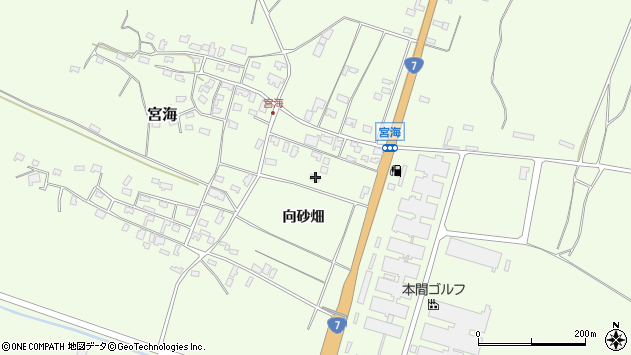 山形県酒田市宮海向砂畑11周辺の地図
