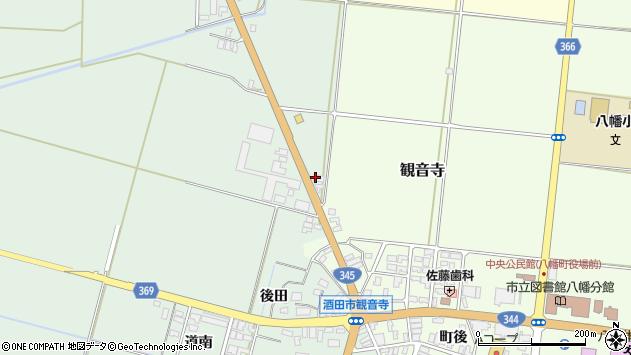 山形県酒田市北仁田上曽田周辺の地図