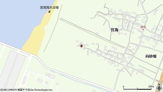 山形県酒田市宮海砂飛39周辺の地図