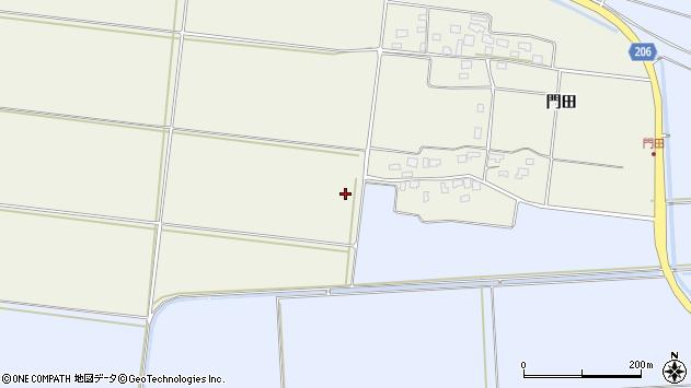 山形県酒田市穂積草田周辺の地図
