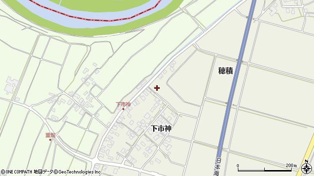 山形県酒田市穂積上市神195周辺の地図