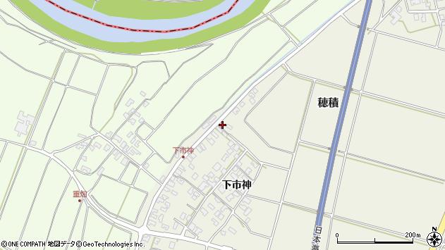 山形県酒田市穂積上市神196周辺の地図