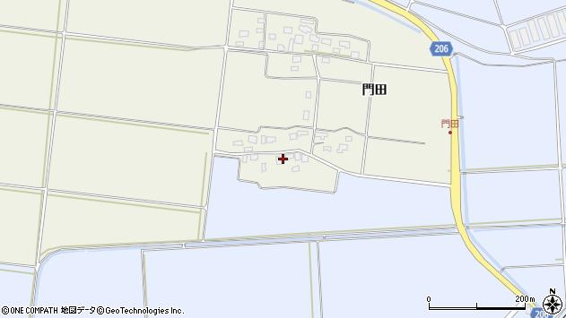 山形県酒田市穂積門田161周辺の地図