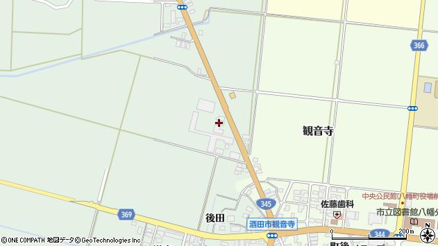 山形県酒田市北仁田石田25周辺の地図