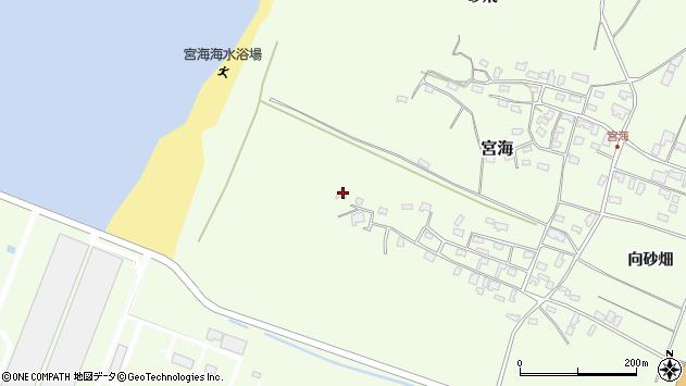山形県酒田市宮海砂飛45周辺の地図