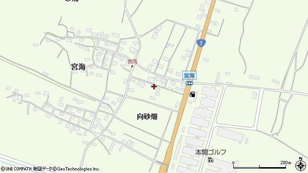 山形県酒田市宮海向砂畑7周辺の地図
