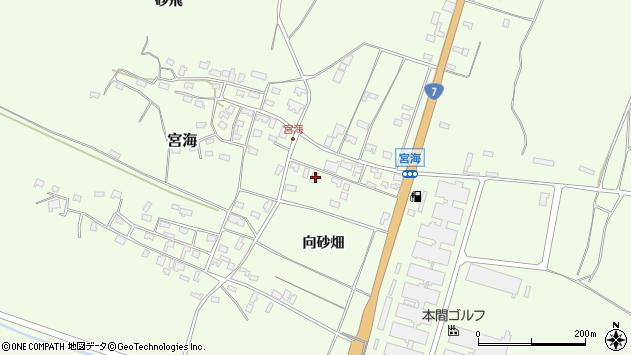 山形県酒田市宮海向砂畑9周辺の地図