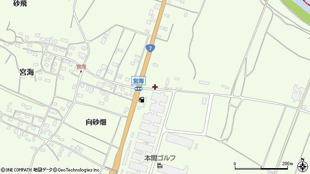 山形県酒田市宮海村東2周辺の地図