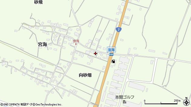 山形県酒田市宮海向砂畑周辺の地図